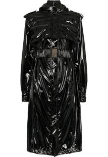 Faith Connexion Trench Coat Com Cinto - Preto