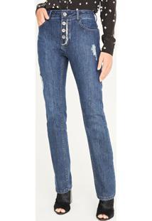 Jeans Reto Com PuãDos - Azulshoulder