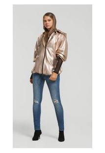 Calça Skinny Pietra Cos Intermediario Bolso Relogio Jeans 34