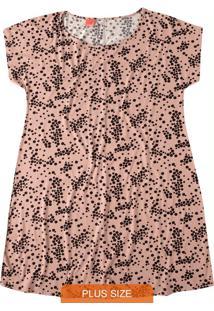 Vestido Rosa Claro Curto Bolinhas