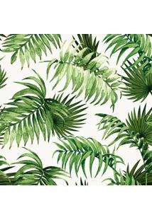Papel De Parede Folhas Off White E Verde (950X52)