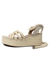 Sandália De Corda Damannu Shoes Thaila Nude Cru