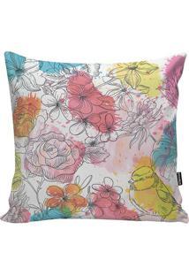 Capa De Almofada Colors Birds- Bege Claro & Vermelhastm Home
