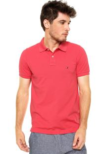 Camisa Polo Tommy Hilfiger Slim Coral