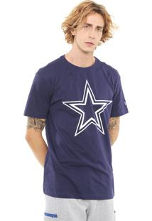 Camiseta New Era Dallas Cowboys Azul-Marinho