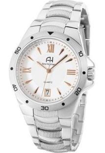 Relógio Feminino Ana Hickmann Ah28973Q - Feminino-Prata+Chumbo