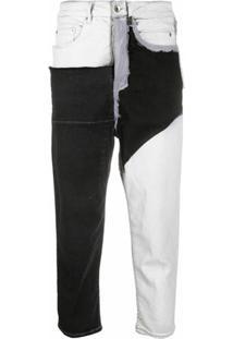 Rick Owens Drkshdw Calça Jeans Color Block - Preto
