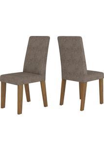 Cadeiras Kit 2 Cadeiras Nobre 14104 Seda/Malta - Viero Móveis