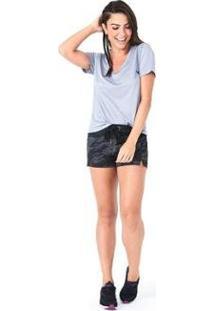 Camiseta Olympikus Gola V Feminina - Feminino-Cinza Claro