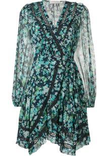 Zimmermann Vestido Foral 'Meadow' - Azul