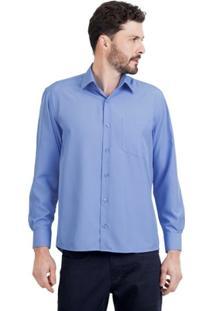 Camisa Di Sotti Microfibra Azul - Masculino