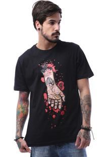 Camiseta Zero Shape Line Hand Tattooed Masculina - Masculino