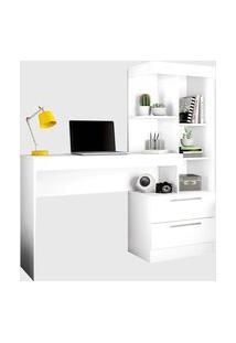 Mesa Office Branco New/Rosa Notável Móveis