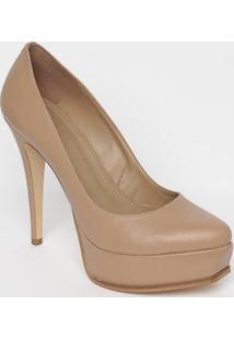 Sapato Meia Pata Em Couro- Marrom Claro- Salto: 13Cmmya Haas