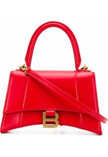 Balenciaga Bolsa De Mão Hourglass Pequena - Vermelho