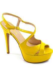 Sandália Verniz Zariff Shoes - Feminino-Amarelo