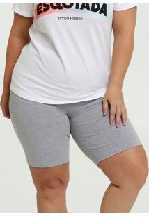 Bermuda Feminina Básica Plus Size Marisa
