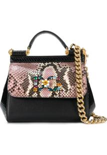 Dolce & Gabbana Sicily Shoulder Bag - Preto