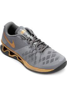 Tênis Nike Reax Lightspeed 2 Masculino - Masculino-Cinza+Dourado