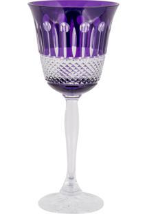 Taça De Cristal Lodz Para Água Ii De 220 Ml - Purple