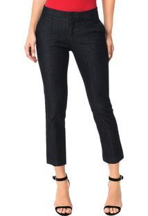 Calça Calvin Klein Jeans 5 Pockets Straight High Azul Marinho - 42