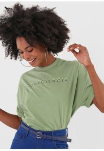 Camiseta Colcci Lettering Verde - Kanui