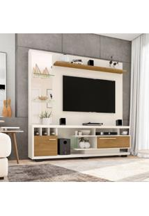 Estante Para Home Theater E Tv 60 Polegadas Tucson Off-White E Cinamomo