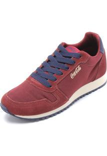 Tênis Coca Cola Shoes Recortes Vinho