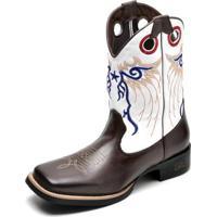 Bota Couro Country Top Franca Shoes Masculino - Masculino-Café 35b0d8ed3ab