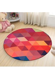 Tapete Love Decor Redondo Wevans Geométrico Colorido 84Cm