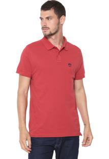 Camisa Polo Mr Kitsch Reta Logo Vermelha