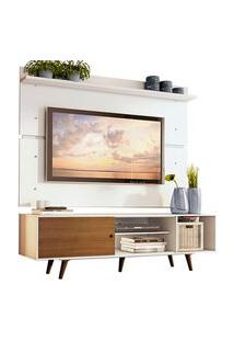 Rack Madesa Dubai E Painel Para Tv Até 65 Polegadas Com Pés Branco/Rustic 9B9B Branco