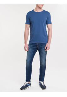 Camiseta Ckj Mc Est American Tour - Azul Escuro - Pp