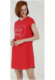 Camisola Feminina Estampa Coração Manga Curta Marisa