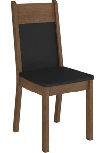 Kit 4 Cadeiras Rustic Preto Madesa