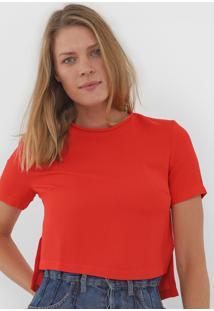 Blusa Maria Filó Textura Vermelha