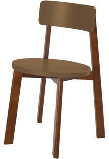 Cadeira Lina Cor Cacau Com Marrom Claro - 31533 Sun House