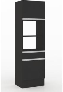 Armário De Cozinha Para Forno 2 Portas 1 Gaveta 600012 Preto - Manfroi