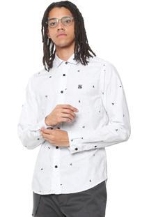 Camisa John John Reta Skeletons Branca