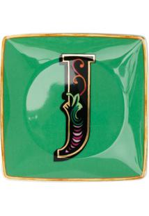 Versace Home Tigela Holiday Alphabet 'J' - Verde