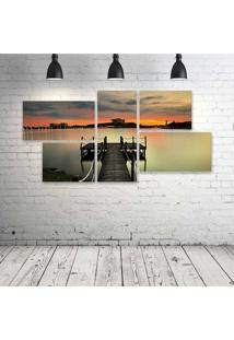 Quadro Decorativo - City-Dock - Composto De 5 Quadros