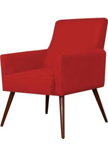 Poltrona Decorativa Lyam Decor Maria Suede Vermelho - Vermelho - Dafiti