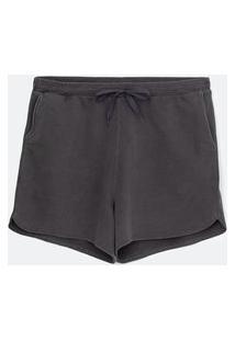 Short Básico Em Moletom Curve & Plus Size | Ashua Curve E Plus Size | Cinza | Eg