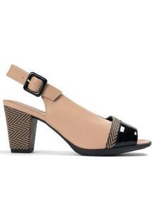 Peep Toe Chanel Salto Alto Feminino - Feminino