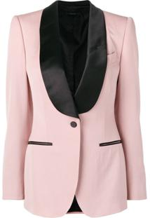 Tom Ford Blazer Formal Com Contraste - Rosa