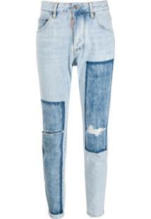 Dsquared2 Calça Jeans Bicolor - Azul