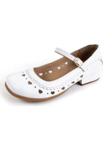 Sapato Feminino Miuzzi Branco Ref: 3204