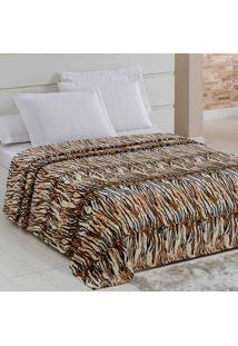 Cobertor / Manta Microfibra Flanel Tigerskin