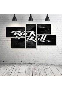 Quadro Decorativo - Rock'N-Roll-(2) - Composto De 5 Quadros