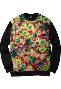 Blusa Bsc Flowers Full Print - Masculino